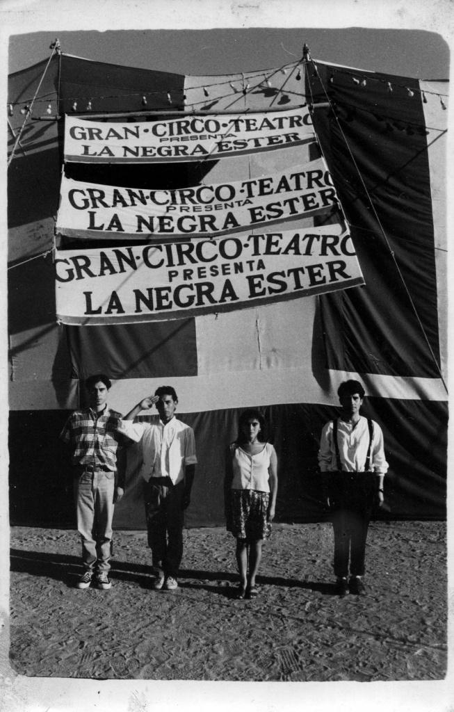 Andrés García; Andrés Pérez; Carmen Romero y Leonel Cornejo San Antonio, Verano 1990